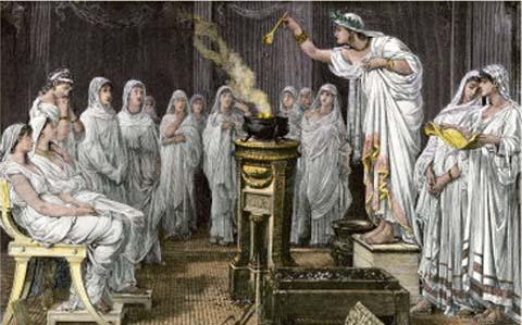 que practicas religiosas poseian los romanos a sus dioses