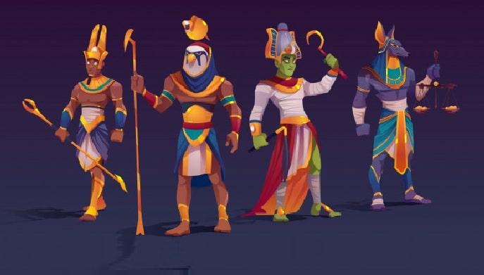 quienes son los dioses de egipto